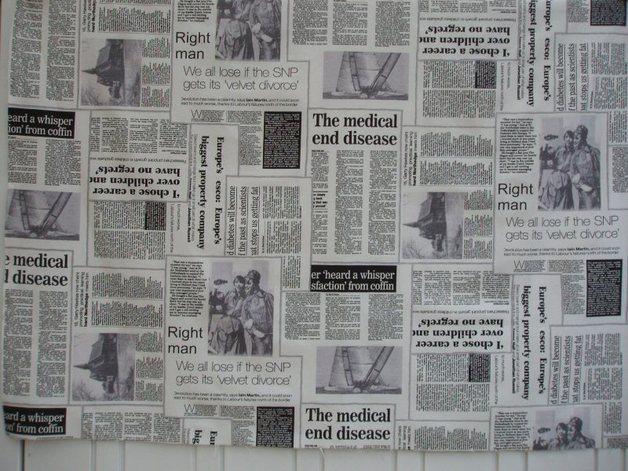 Zeitungsstoff 080405 - 1 m