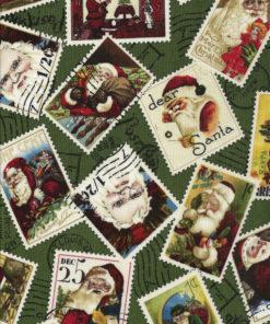 Weihnachtsstoff SANTA CLAUS Nr. 130652 - 1 Fat Quarter