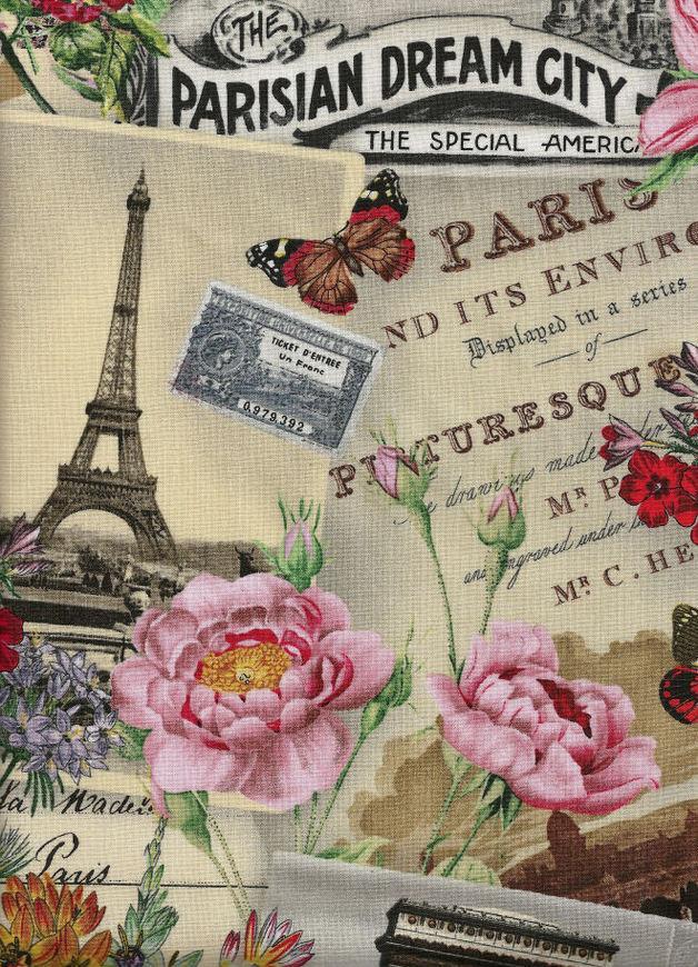 SPRING IN PARIS Stoff Nr.130901 - 1 m