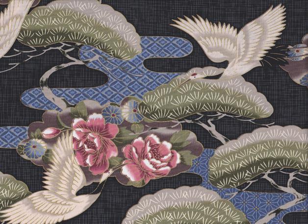 JAPAN KRANICH Stoff Nr. 140943 - 1 m