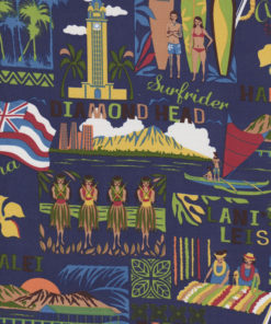 HAWAII DIAMOND HEAD Stoff Nr. 140932 - 1 Fat Quarter