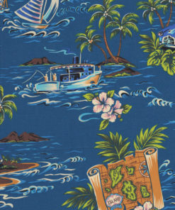 HAWAII SURFEN SEGELN Stoff Nr. 140934 - 1 Fat Quarter