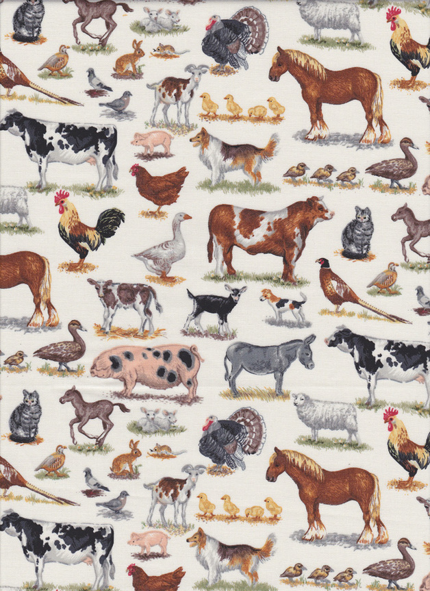 FARM ANIMALS Stoff Nr.150304 - 1 Fat Quarter