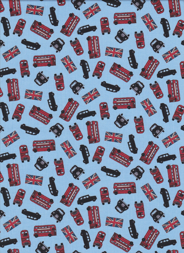 LONDON Stoff Nr. 150502 - 1 Fat Quarter