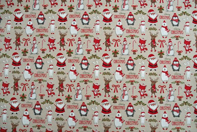 WEIHNACHTSSTOFF MERRY CHRISTMAS NR. 170237 - 1 m