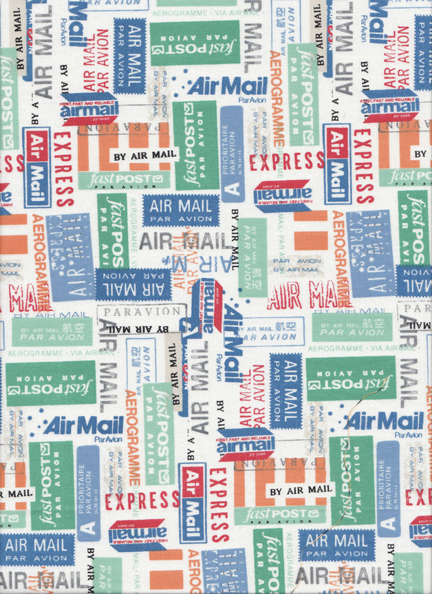 VACATION AIRMAIL Stoff Nr. 160259 - 1 Fat Quarter