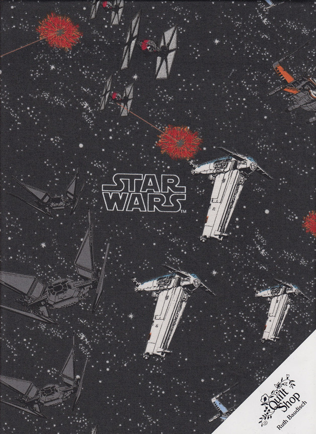 "STAR WARS ""SPACE SHIP BATTLE"" Stoff Nr.171204 - 1 Fat Quarter"