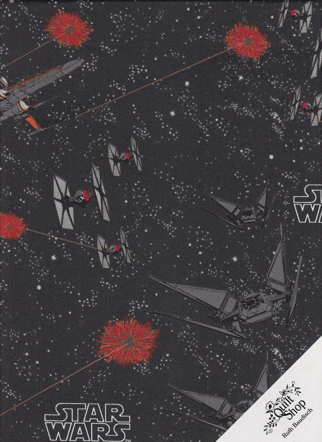 "STAR WARS ""SPACE SHIP BATTLE"" Stoff Nr.171204 - 1 Fat Quarter"