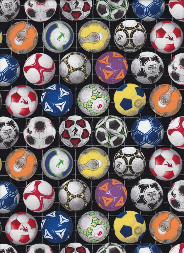 FUSSBALL Stoff Nr. 160540 - 1 Fat Quarter