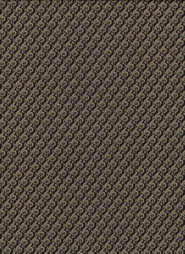 VIOLINSCHLÜSSEL, NOTENSCHLÜSSEL Stoff Nr. 170256 - 1 Fat Quarter