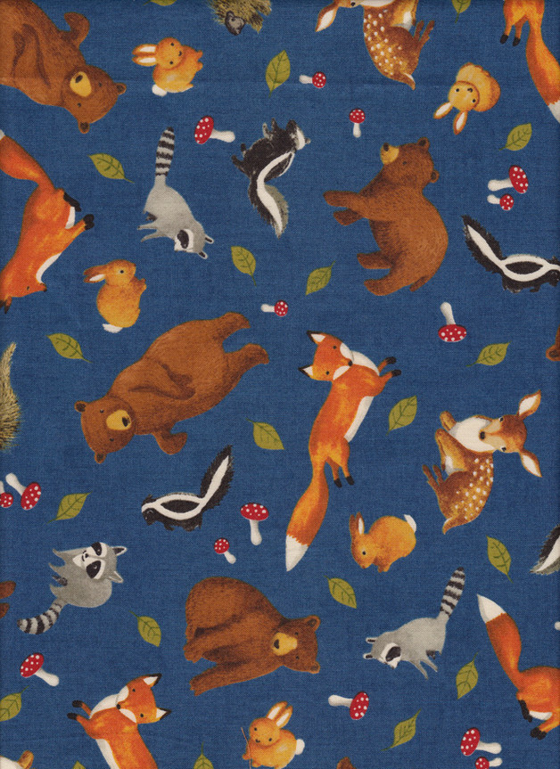 FORREST FRIENDS Stoff Nr. 160254 - 1 Fat Quarter