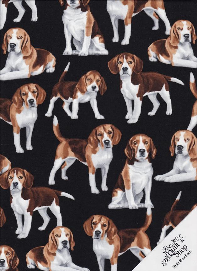 BEAGLE Hunde Stoff Nr. 180312 - 1 Fat Quarter