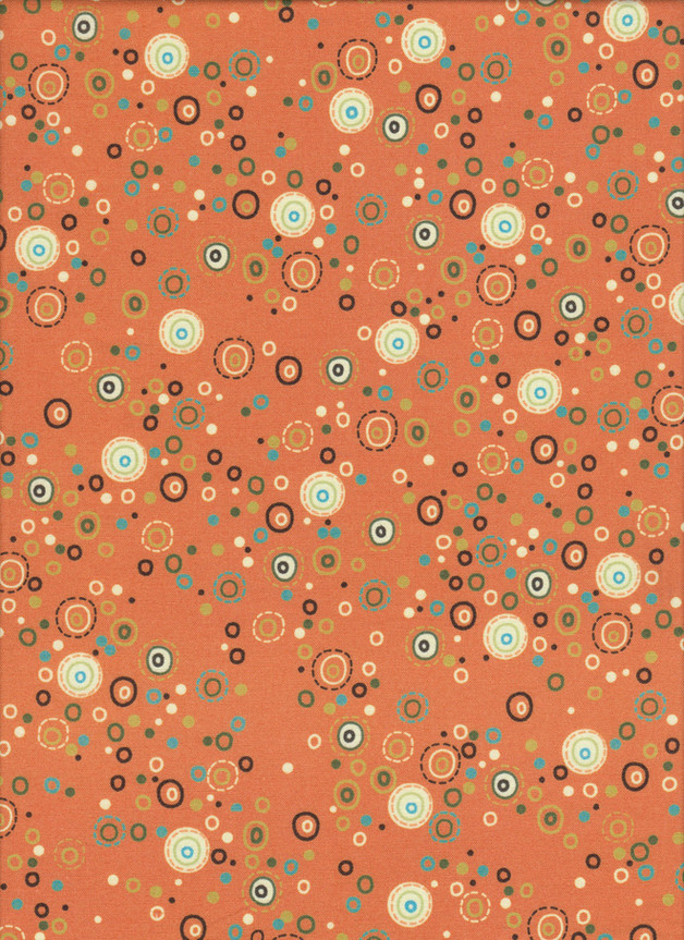 KREISE, DOTS Stoff Nr.150904 - 1 Fat Quarter