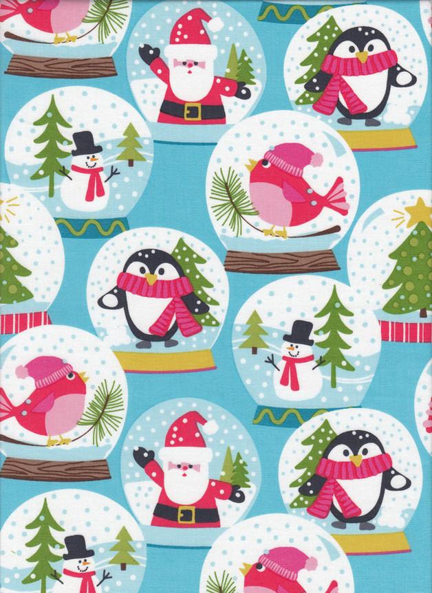 Weihnachtsstoff SCHNEEKUGELN Stoff Nr. 161203 - 1 Fat Quarter