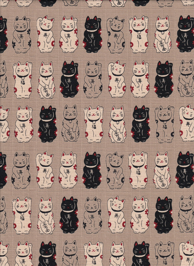 WINKEKATZEN Japan Stoff Nr. 160552 Z - 1 Fat Quarter