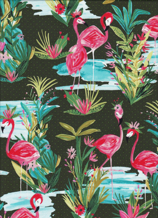 FLAMINGO Stoff Nr. 160904 - 1 Fat Quarter