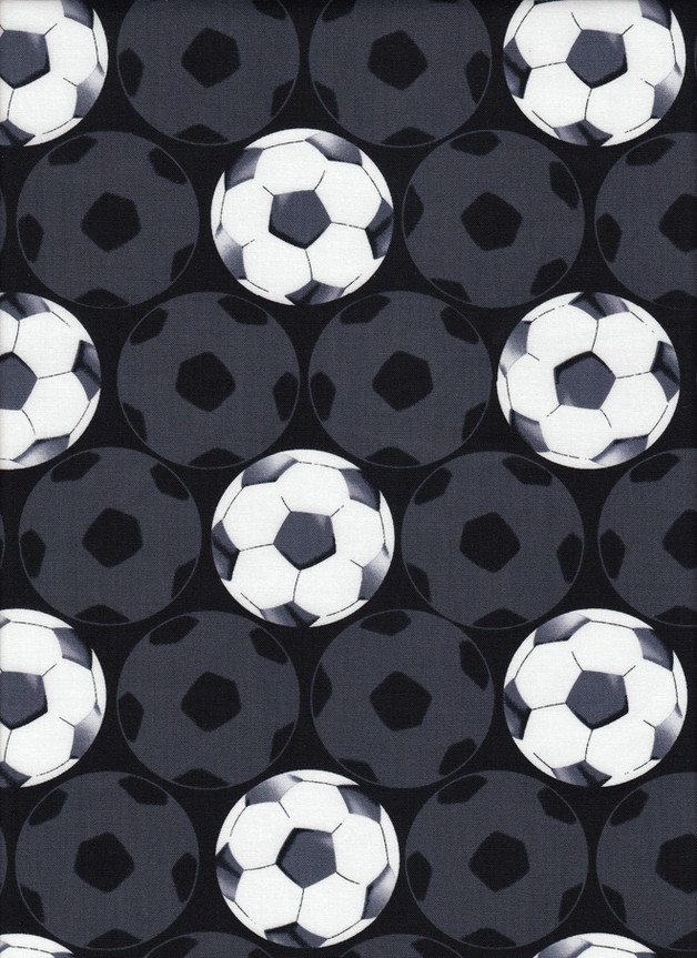 FUSSBALL Stoff Nr. 160541 - 1 Fat Quarter