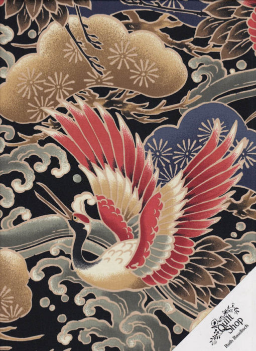 KRANICHE JAPAN Stoff Nr. 171024 - 1 m