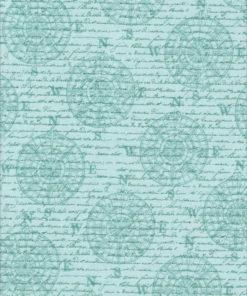 MARITIM SCHRIFT Stoff Nr. 170270 - 1 Fat Quarter