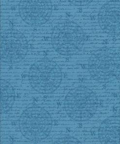 MARITIM SCHRIFT Stoff Nr. 170276 - 1 Fat Quarter