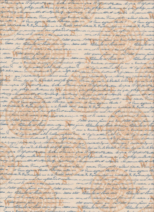 MARITIM SCHRIFT Stoff Nr. 170269 - 1 Fat Quarter