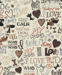 I LOVE MY DOG Stoff Nr. 170708 - 1 Fat Quarter