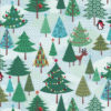 Weihnachtsstoff FROSTY TREES Nr. 160620 - 1 Fat Quarter
