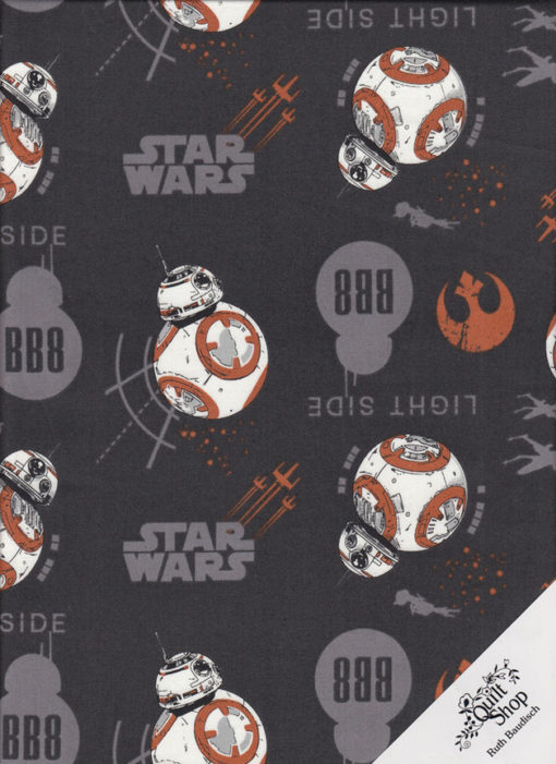 """STAR WARS """" BB-8 """" Stoff Nr.171207 - 1 Fat Quarter"""