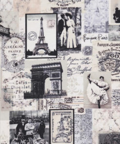 BONJOUR PARIS Stoff Nr.140810 - 1 Fat Quarter