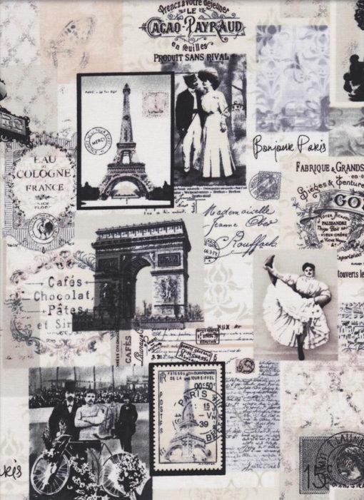 BONJOUR PARIS Stoff Nr.140810 - 1 Fat Quarter