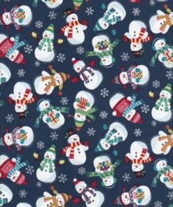 Weihnachtsstoff FROSTY SNOWMEN Nr. 160623 - 1 Fat Quarter