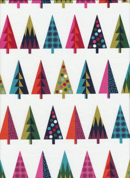 Weihnachtsstoff WRAP TREES Nr. 160625 - 1 Fat Quarter