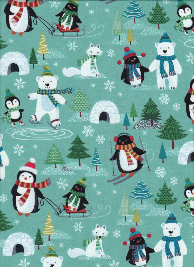Weihnachtsstoff FROSTY SCENIC Stoff Nr. 160624 - 1 Fat Quarter